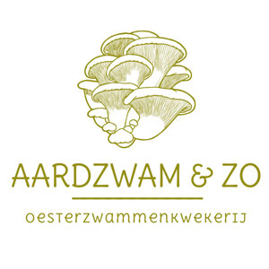 one page website Aardzwam en Zo logo. MMENR deelnemer die oesterzwammen kweekt op koffiedik