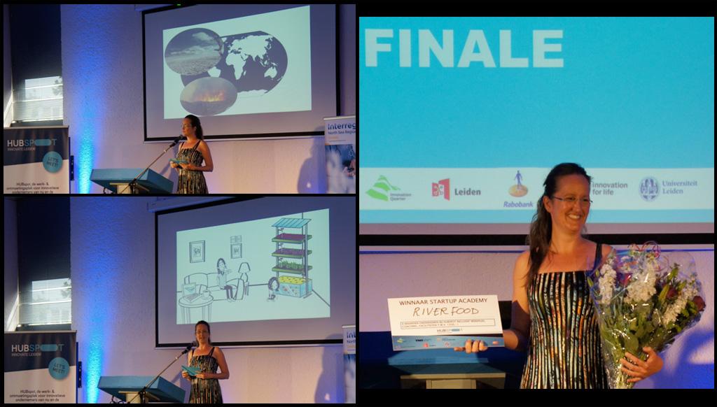 Linda Grotenberg startup won volgens de expertjury met mooie woorden van HUBspot Leiden Raffi Balder