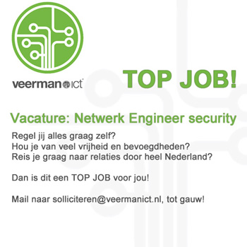 Vacature netwerk engineer security Veerman ICT job werk solliciteren baan MMENR