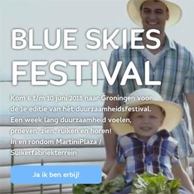 Blue Skies Festival save the date duurzaamheidsfestival Groningen MMENR De Duurzame Kaart