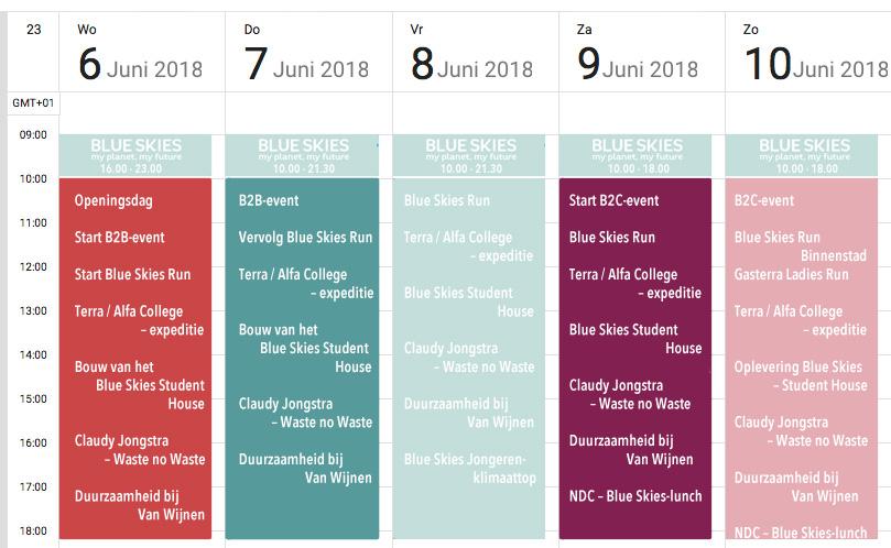 Blue Skies programma festival bekend gemaakt. Duurzaamheid Groningen MMENR De Duurzame Kaart