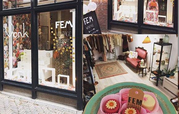 Fem Vintage kleding Lijnmarkt Utrecht cupcake kosteloos project duurzame ondernemers MMENR