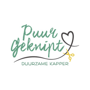 Logo Puur Geknipt natuurkapper biologische kapper Dordrecht partner produceren MMENR Netwerk